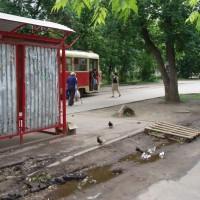 N.Novgorod, zastávka tramvaje