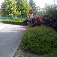 Pruh pro cyklisty na dopravním hřišti