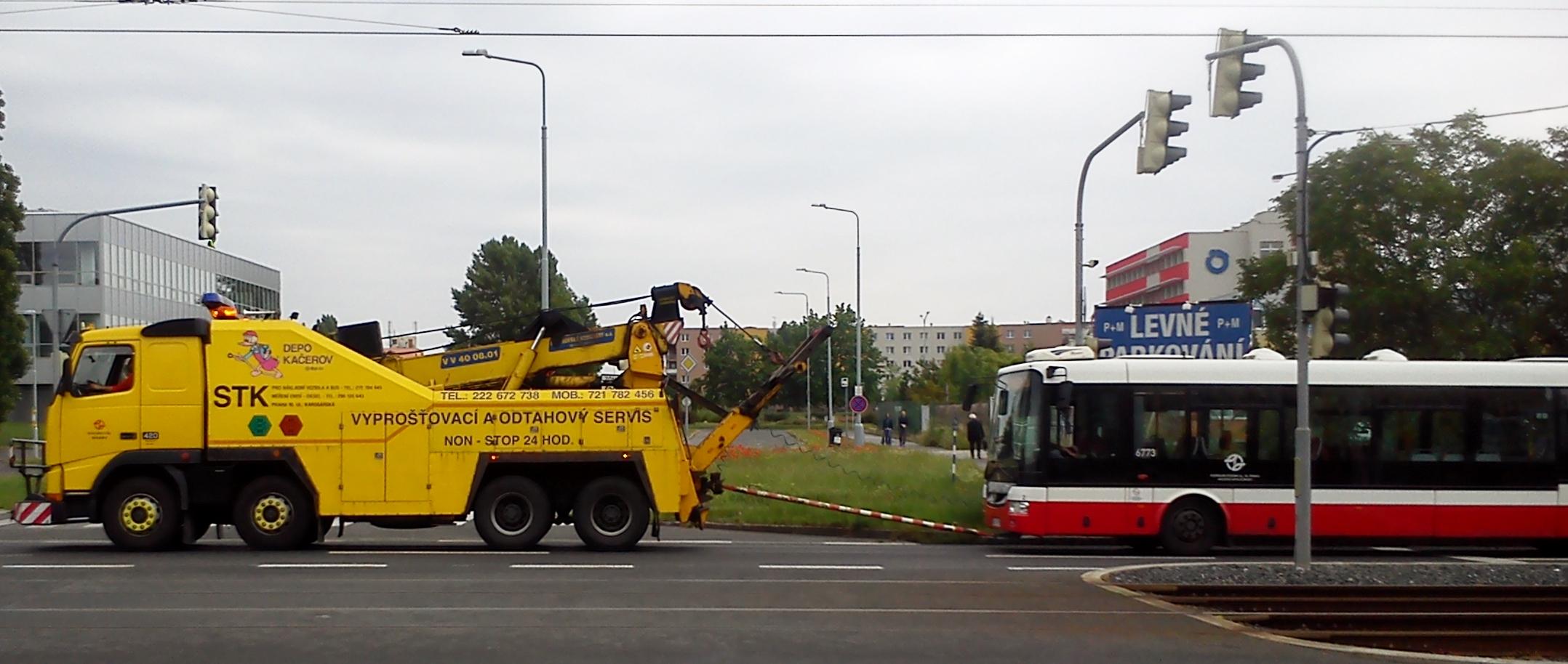 Odtah MHD autobusu