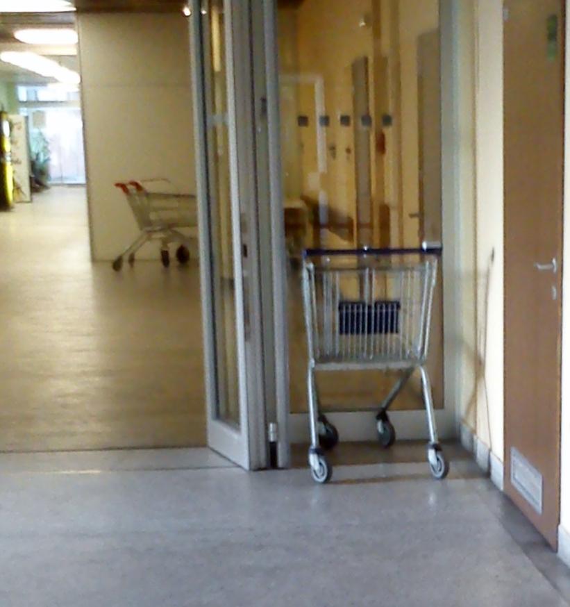 Na ortopedii se můžete projíždět v nákupním vozíku