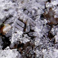 Námraza pod mikroskopem