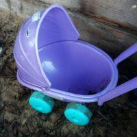 Velká fialová plastová krása