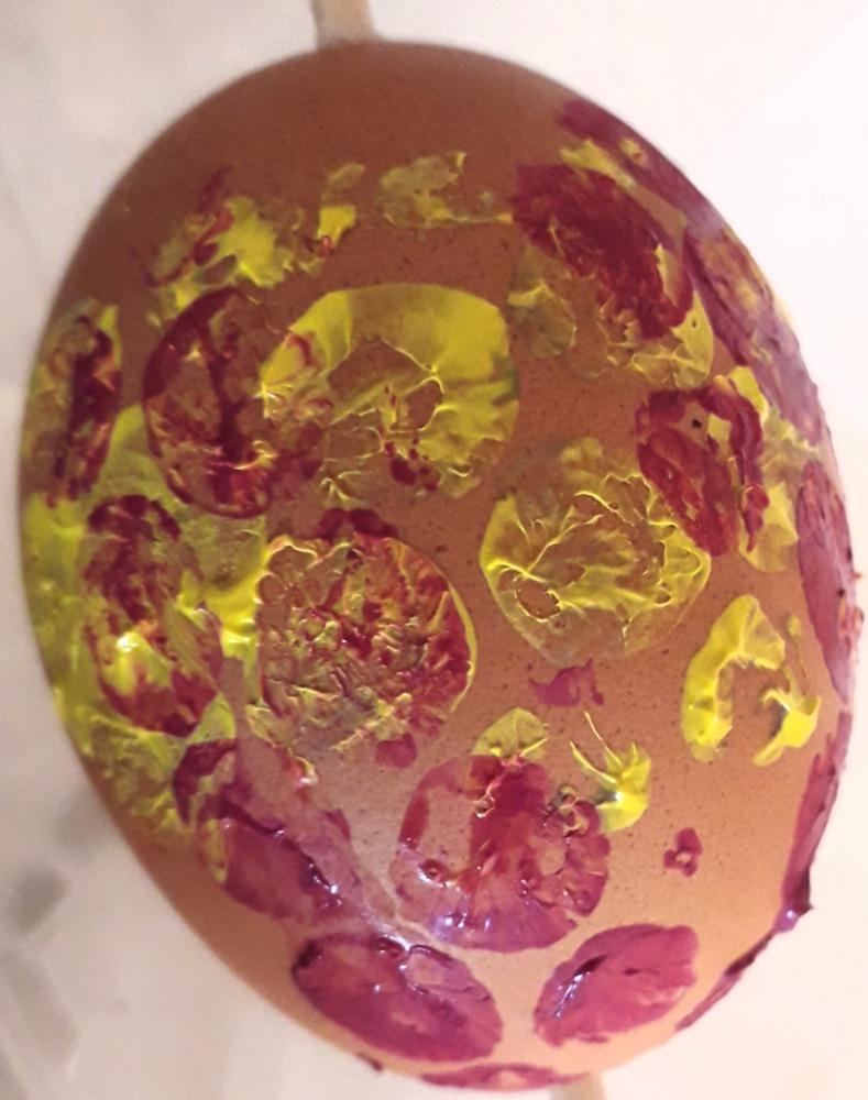 Tisk na vejce bublinkovou fólií