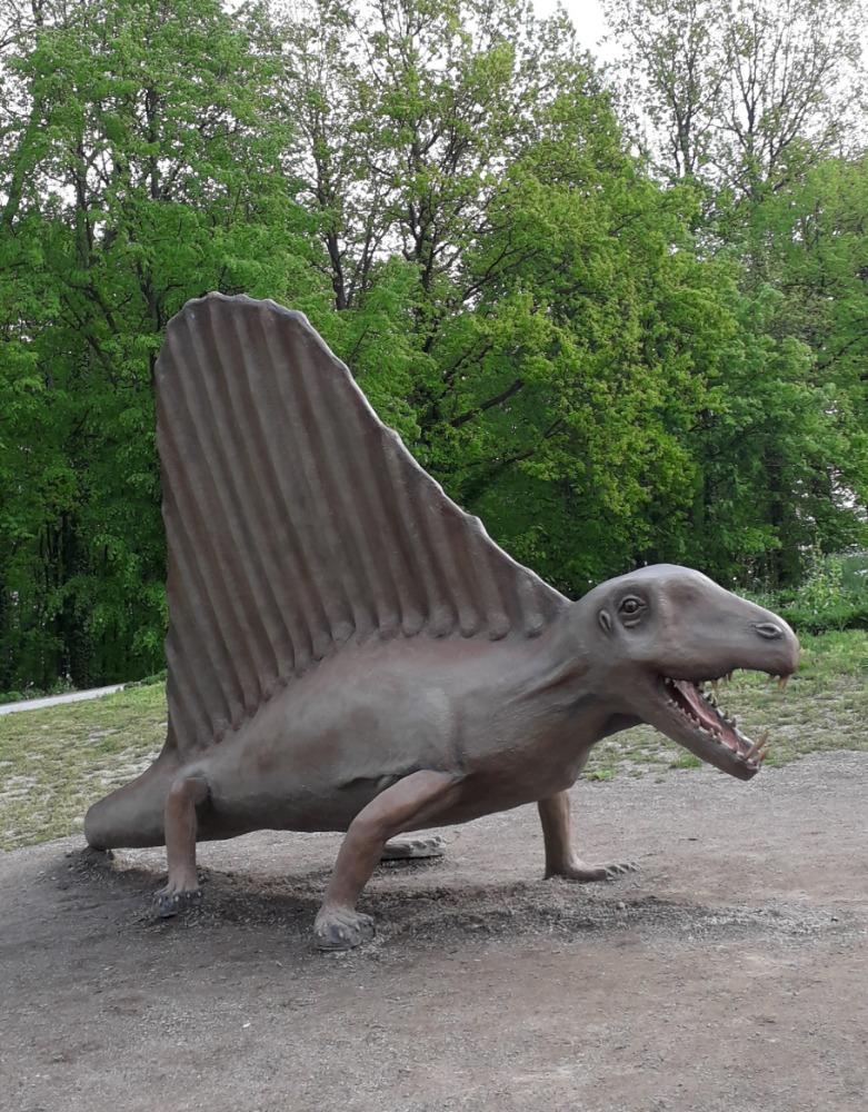 Modely dinosaurů v dinoparku