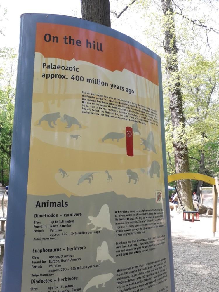 Informační panely o dinosaurech