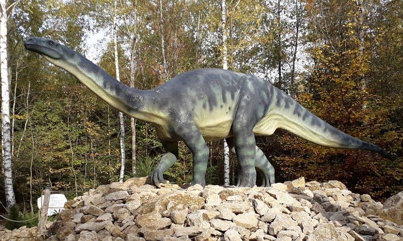 Modely v dinoparku Altmühltal