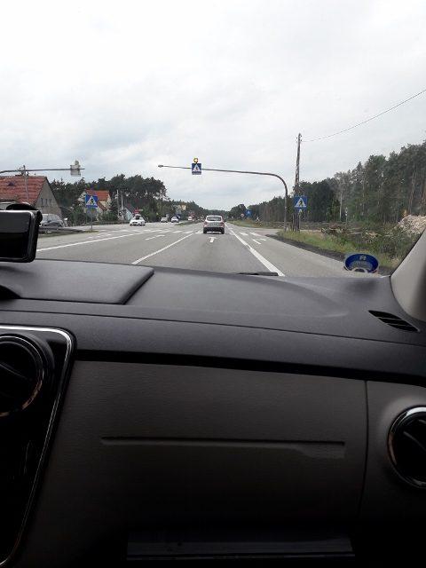 Přechod přes polskou dálnici